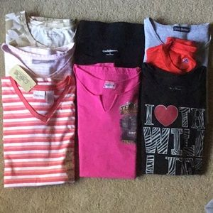 Woman's Lot of 8 T- Shirts. All EUC or New